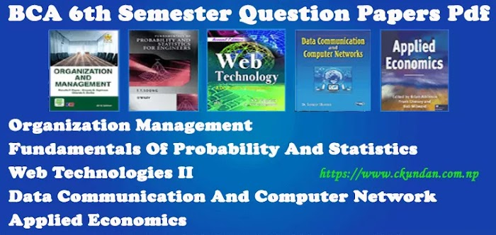 BCA 6th Semester Question Papers Pdf