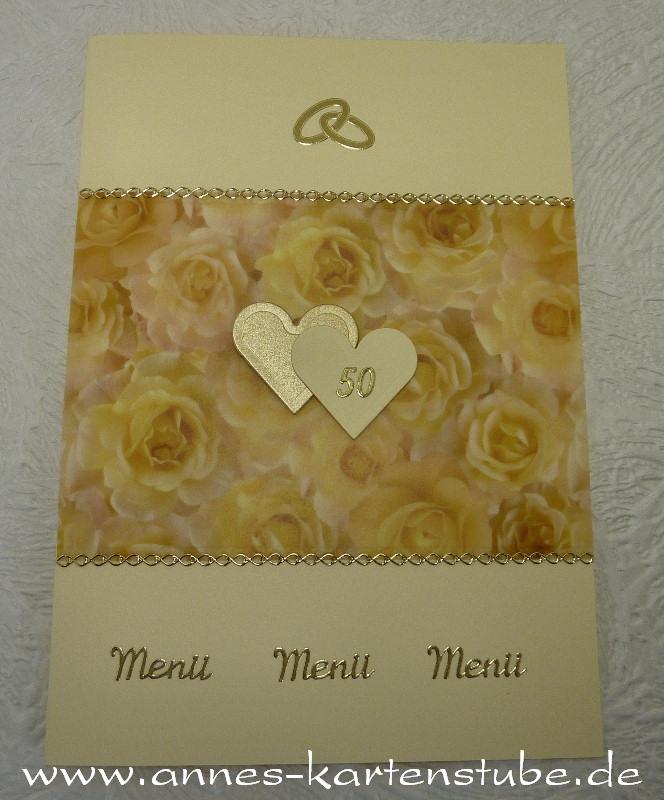 Annes Kartenstube Menükarten Zur Goldenen Hochzeit