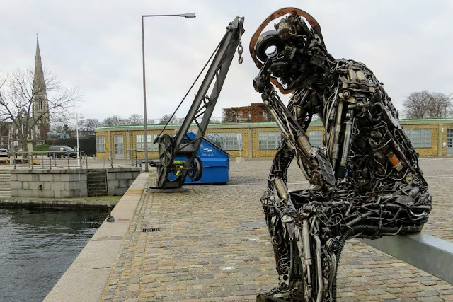 Winter in Copenhagen: The Zinc Thinker in Copenhagen Harbour