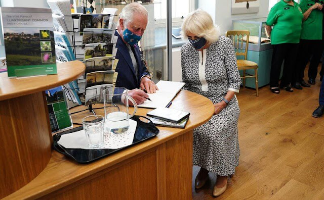 Duchess of Cornwall visited the town of Llantrisant and  newly restored building, the Llantrisant Guildhall Heritage and Visitor Centre