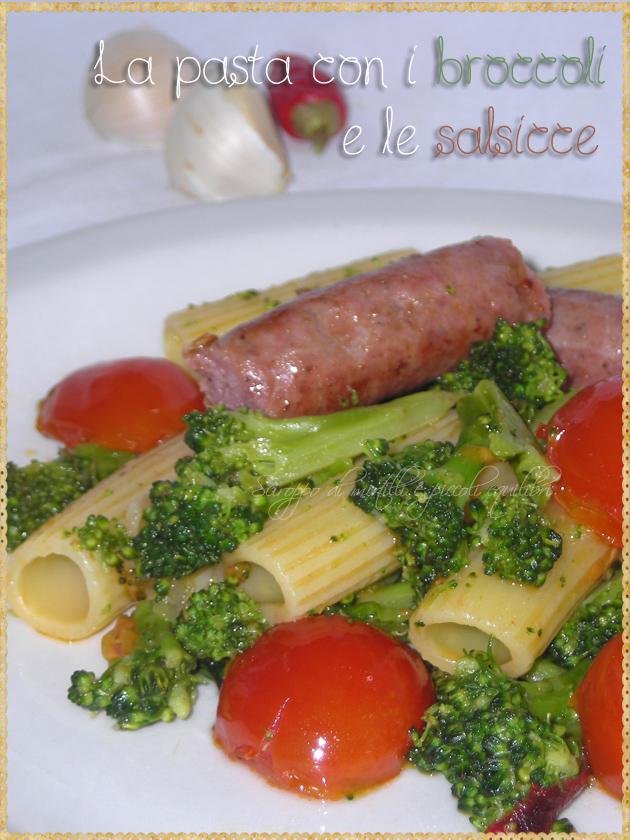 Pasta con broccoli salsicce