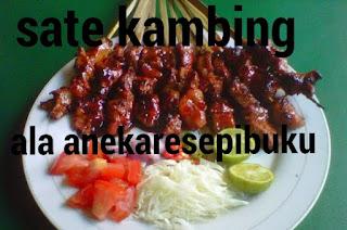 diindonesia terdapat berbagai macam jenis sate Resep Sate Kambing Super Enak
