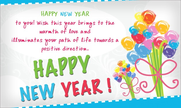 New Year Greeting Wishes English
