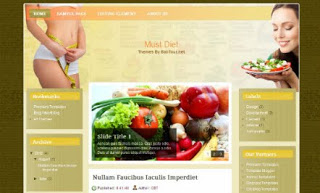 Must Diet Blogger Template
