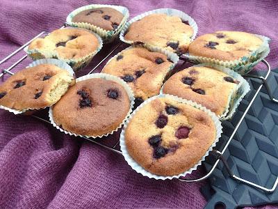 Blueberry muffins uden mel og sukker