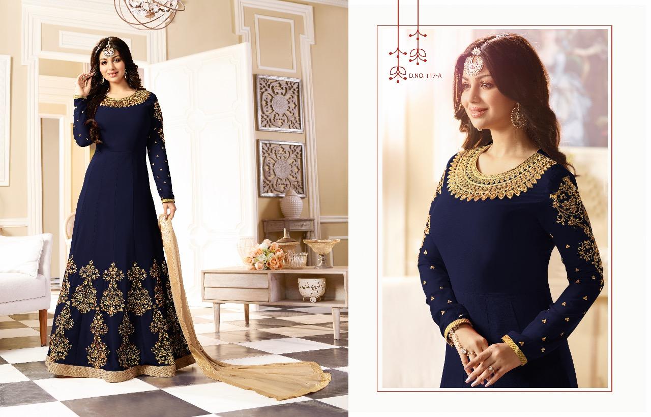AAFREEN COLOUR PLUS-Designer Semi Stitched Georgette Salwar Suit