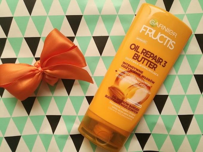 Ulubiona odżywka do włosów, która czyni cuda - GARNIER Oil Repair 3 Butter + z czym warto ją łączyć