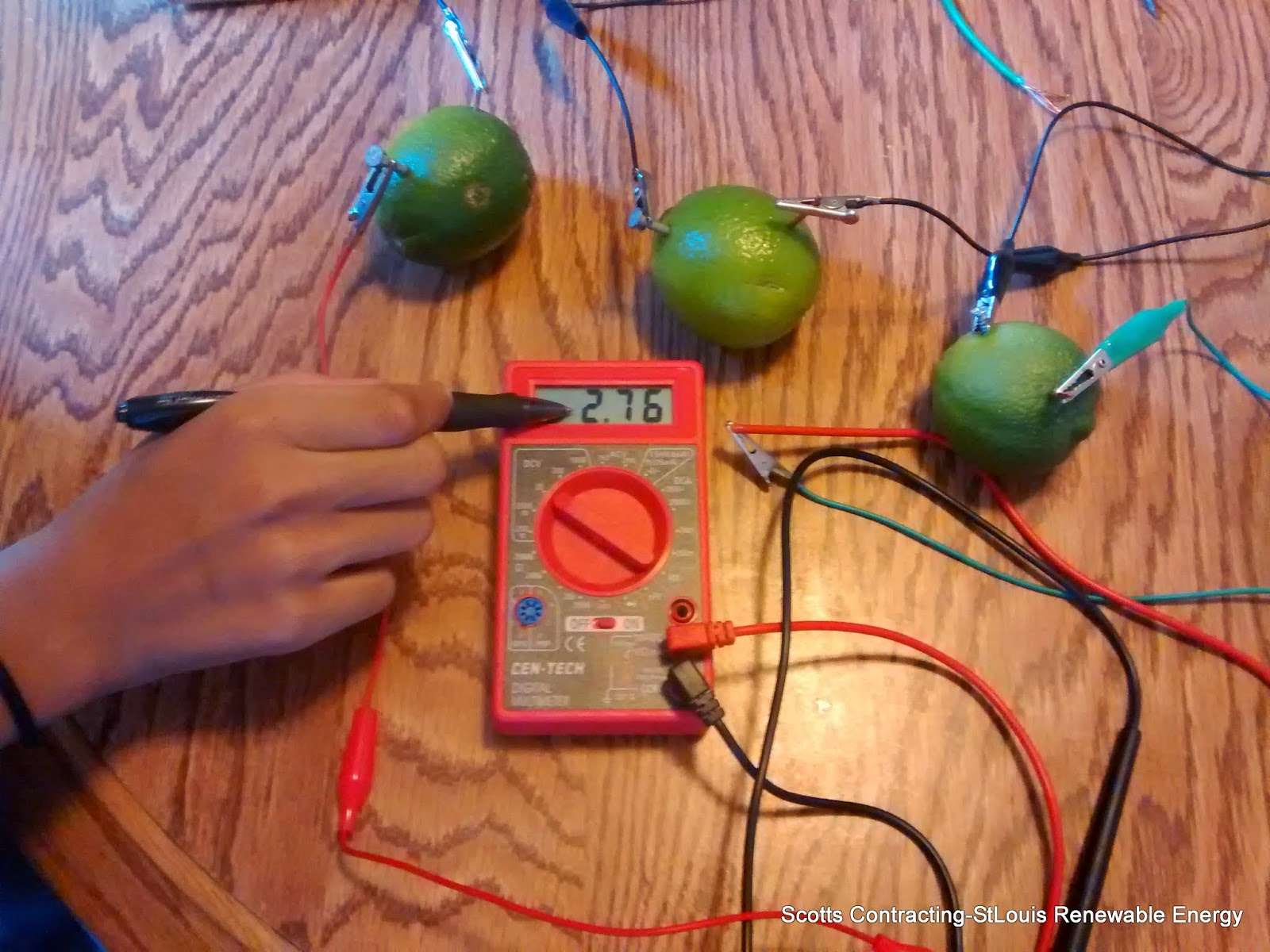 Stlouis Renewable Energy 4th Grade Science Project Worksheets Electric Circuit Measuring Fruit Battery Electrical Current With Multi Meter