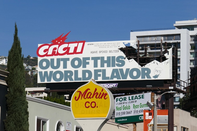 Cacti Out of this world flavor cut-out billboard