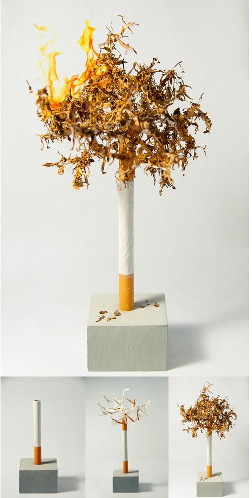 Haz una Escultura de Arbol con un Cigarrillo