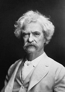 Mark Twain taken by A. F. Bradley in New York, 1907 (image)