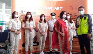 Maskapai Baru Super Air Jet, Terbang Perdana dari Bandara Kualanamu