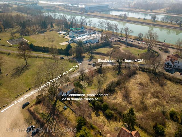 Blockhaus MOM pour mitrailleuse sur l'Île du Rhin