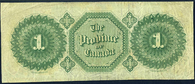 The Province of Canada One Dollar Bill 1866 Payable at Toronto