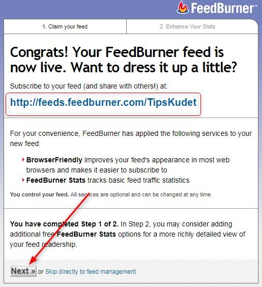 Cara Daftar FeedBurner Blog