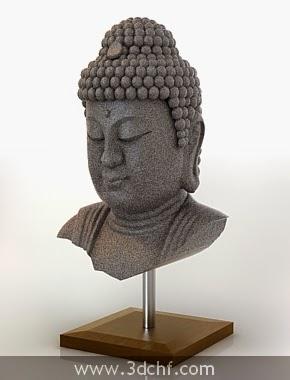 free 3d model buddha statue