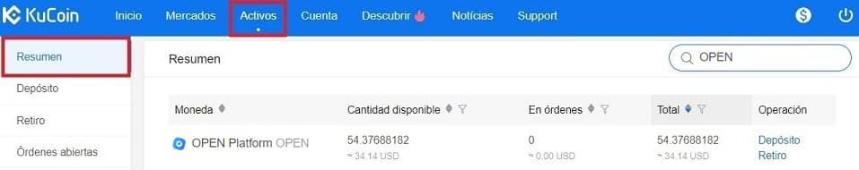Tutorial Español Paso a Paso Comprar Moneda Open Platform (OPEN)