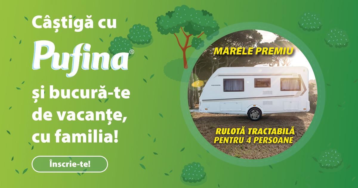 Concurs Pufina 2021 - Castiga o rulota tractabila pentru 4 persoane - promotie - castiga.net