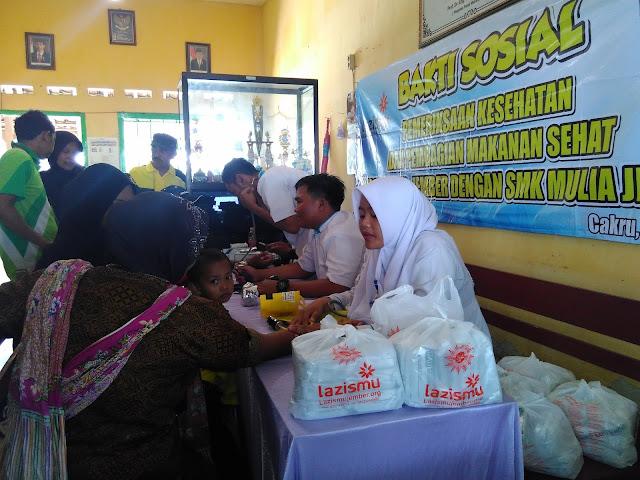 Pelaksanaan Pemeriksaan Kesehatan dan Pembagian Makanan Tambahan dari Team Lazismu Jember