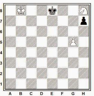 Estudio artístico de ajedrez compuesto por Paul Benko (Torneo Memorial Ban, 1989)