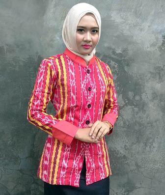 Contoh Model Baju Batik Seragam Untuk Wanita Muslimah