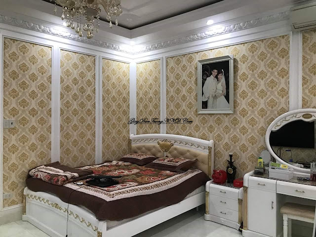 Sử dụng giấy dán tường trang trí phòng ngủ đẹp