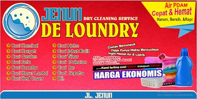 spanduk banner jenun de laundry cdr