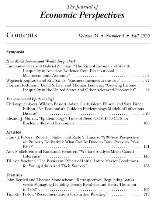Outono 2020 Journal of Economic Perspectives Online 2