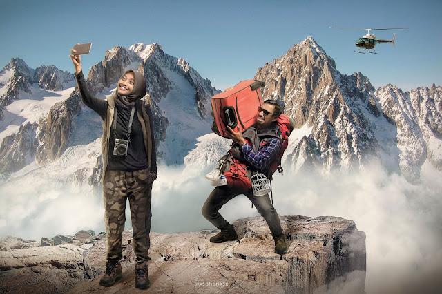 Mendaki gunung bersama pacar