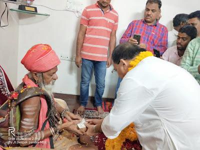 केबिनेट मंत्री डॉ. विजय लक्ष्मी के घर पधारे श्री 1008 अवधूत टाटम्बरी सरकार का किया सम्मान| dr. vijay lakshmi sadho ke ghar sant padhare