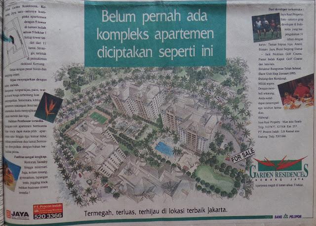Iklan Apartemen Taman Kemang Jaya, 1992