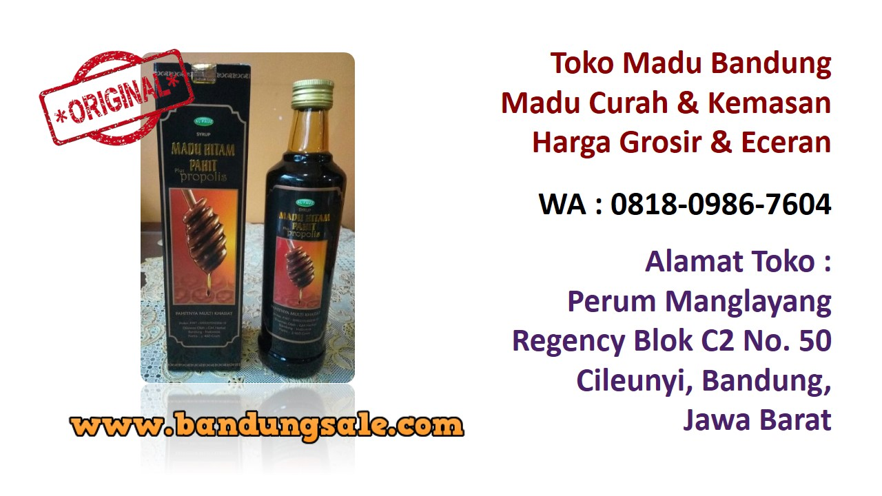 Supplier madu murni online bandung murah. Hubungi WA : 0818-0986-7604. Produk-madu-odeng-tasik-bandung-murah