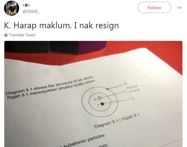 student gurau kasar sampai si cikgu rasa nak resign!