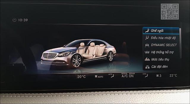 Thiết kế Màn hình trung tâm Mercedes S450L Star 2019