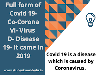 Full form of covid19