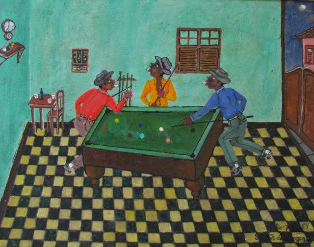 Três Malandro na Sinuca - Heitor dos Prazeres ~ O pintor das favelas carioca