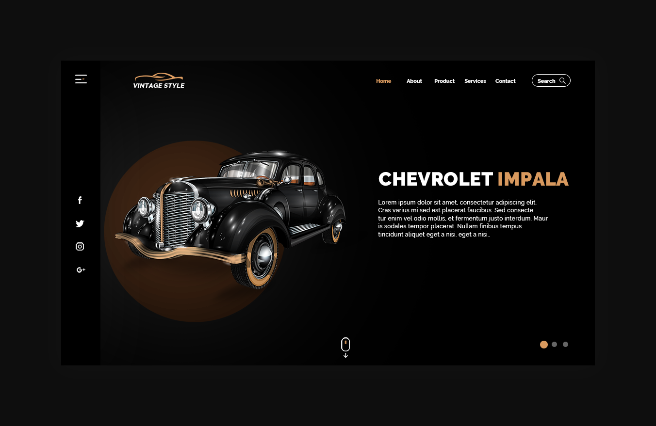 Vintage Cars Website Templates