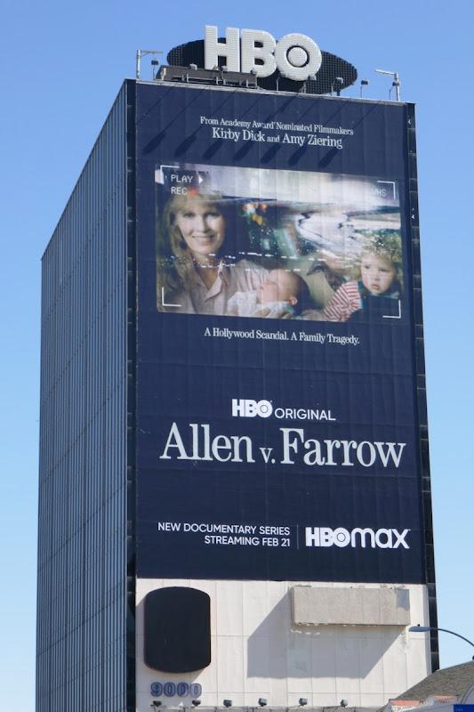 Giant Allen v Farrow series premiere billboard