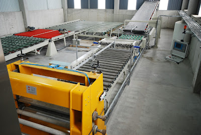 Forming, Setting Line, Cross conveying units of plasterboard plants