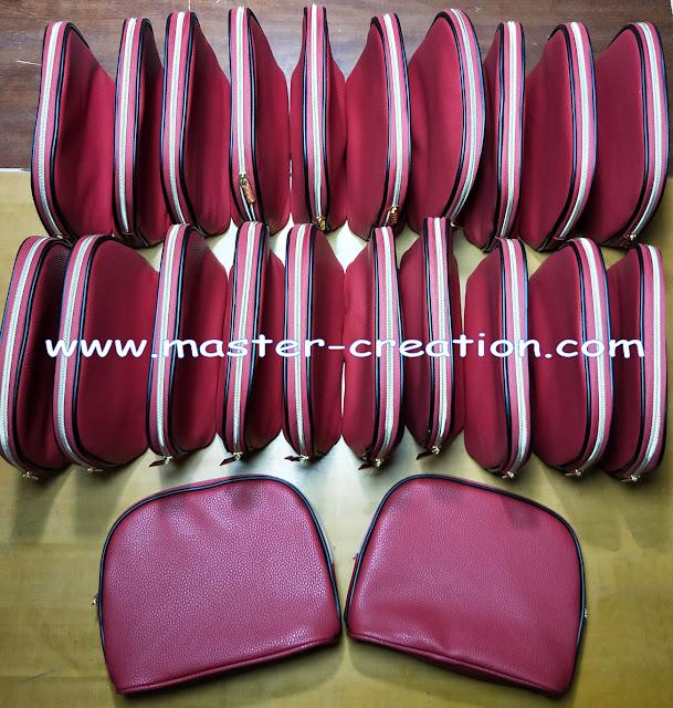 leather makup bag