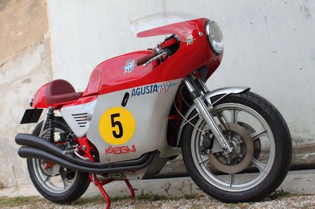MV Agusta 850 Magni 1970s Italian classic motorcycle
