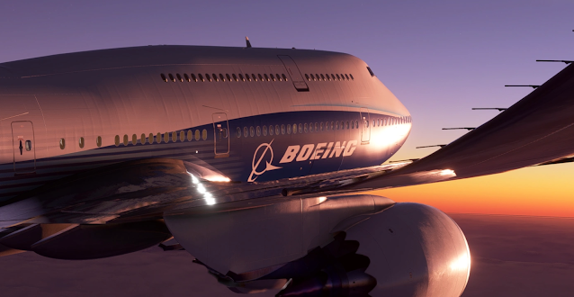 Asobo Boeing 747-8i Autopilot and Flight Model improvements