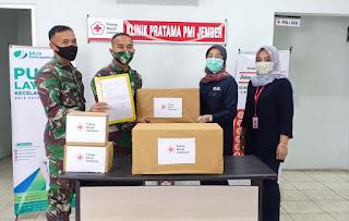PMI Bantu Obat-Obatan Dukung Tugas Yonif Raider 515 di Perbatasan Papua