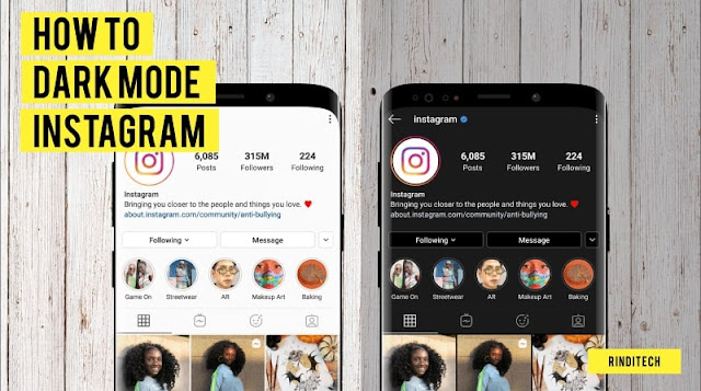Cara Mudah Dark Mode di Instagram Android & iPhone