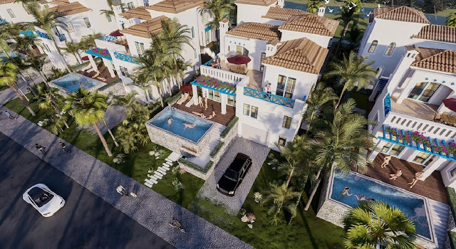 Biệt thự Địa Trung Hải Santorini Villas siêu sang tại Sunshine Heritage Resort Sơn Tây Phúc Thọ