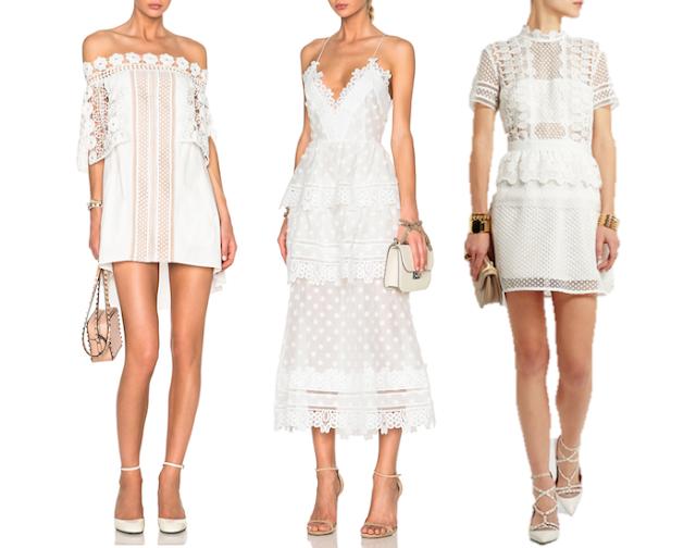 Self-Portrait white dress