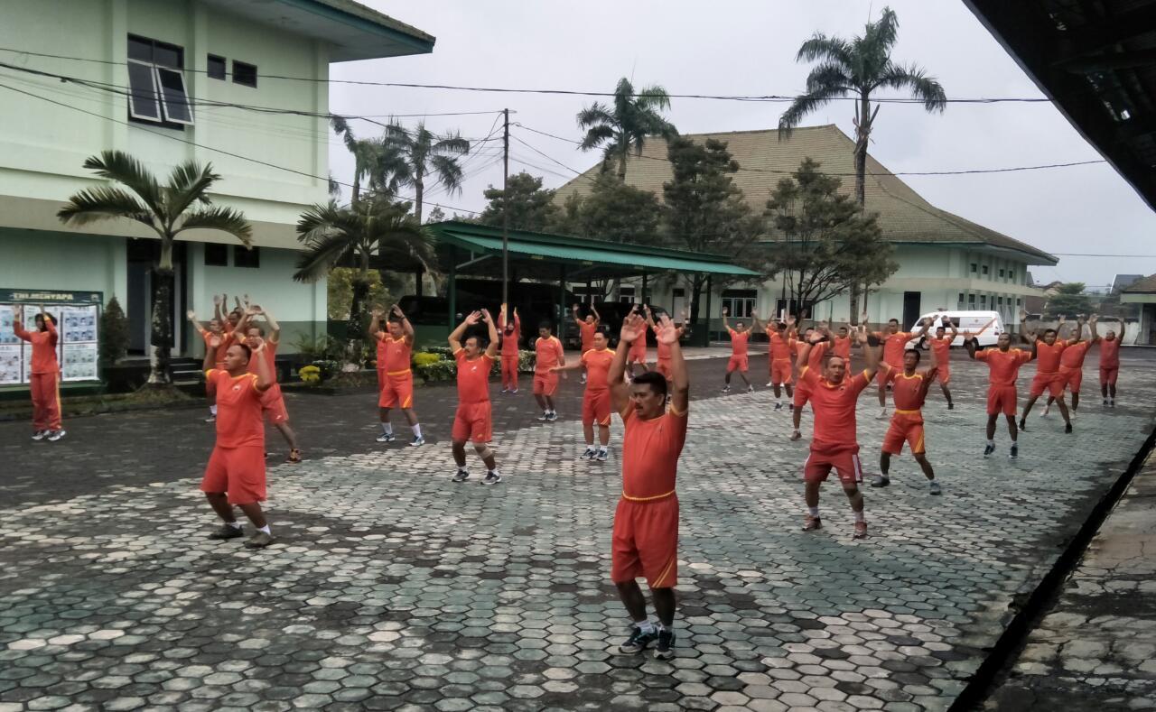 Jaga Imun, Prajurit Wijayakusuma Aerobik Bareng
