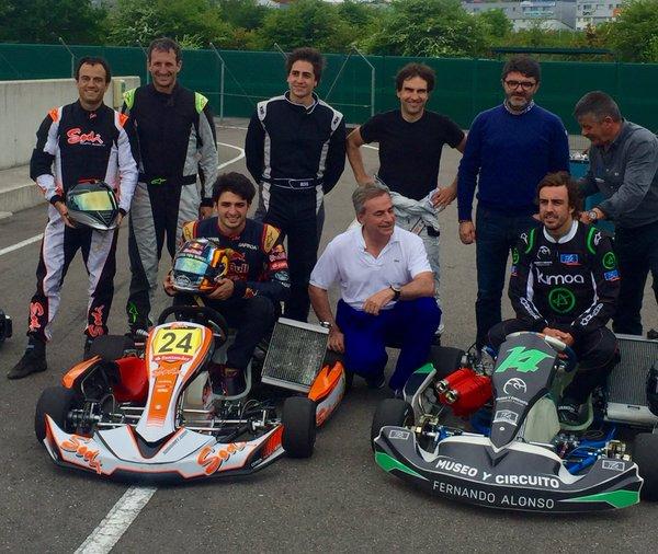 Museo Y Circuito Fernando Alonso : Fernando alonso y carlos sáinz jr en el circuito de la morgal