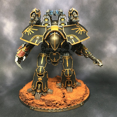 Warlord-Sinister Titan for Adeptus Titanicus with Custom Name Plate
