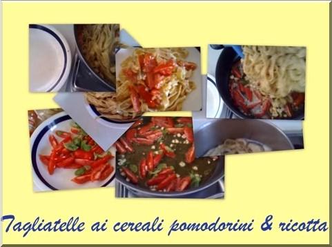 Tagliatelle ai cereali con pomodorini e ricotta